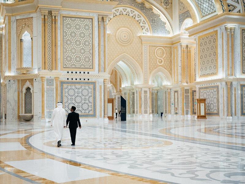Inside Qasar Al Watan in Abu Dhabi