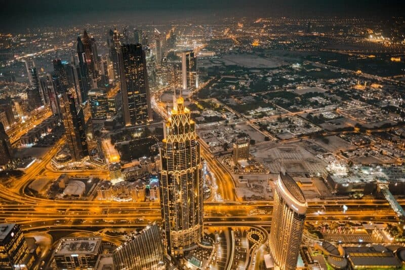 Skyline of Dubai International Financial Center (DIFC)