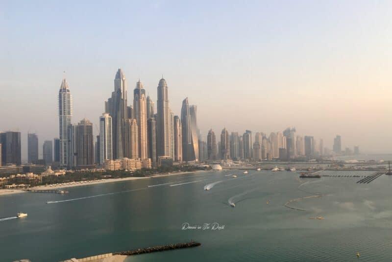 View of Dubai Marina from Penthouse Five Palm Jumeirah
